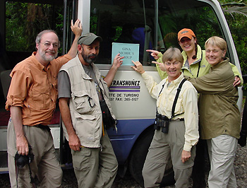Sunrise Birding travelers in Costa Rica